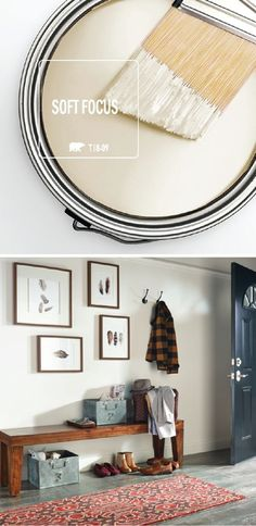 Тёплосерые стены продолжают цвета древесины.
