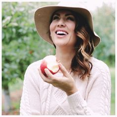 Picking and eating apples straight from the tree is so much fun!