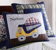 Busy Builder Construction Quilted Standard Sham, Pottery Barn