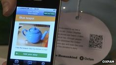 Oxfam's Shelflife links goods with past using QR Codes