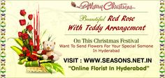 Send Red Rose With Teddy Arrangement To Hyderabad - Christmas Special Online Florist, Beautiful Red Roses, Post Ad, Flowers Delivered, Free Classified Ads, Send Flowers, Hyderabad, Seasons, Christmas