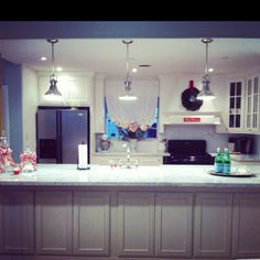 Our remodeled kitchen during Christmas
