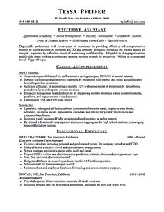 find this pin and more on resume samples executive assistant - Executive Assistant Resume Templates