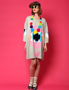 Patchwork Carnivore oversized t shirt
