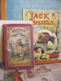 Antique - Early Childrens Book Illustrations - German and English