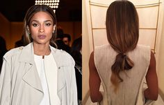 How Ciara Puts a Front Row Twist on Fashion's Favorite Off-Duty Hairstyle Hair Color Auburn, Auburn Hair, Messy Bun Hairstyles, Straight Hairstyles, Ciara Hair, Straight Ponytail, Work Looks, Off Duty, Front Row