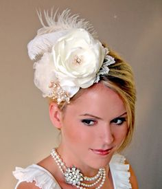 Wedding Accessories Bridal Hat Wedding Hair by MikiyeCreations.com