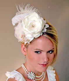 Wedding Accessories Bridal Hat Wedding Hair by MikiyeCreations.com