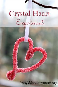 Crystal Heart Science Experiment from Busy Kids Happy Mom