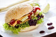 Burger με παναρισμένο κοτόπουλο!: