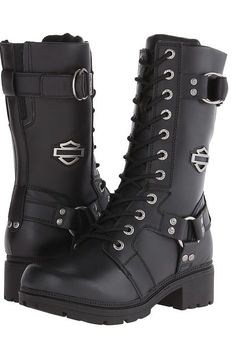 Harley-Davidson Eda (Black) Women's Lace-up Boots - Harley-Davidson, Eda, D83736-001, Footwear Boot Casual Lace-up, Casual Lace-up, Boot, Footwear, Shoes, Gift - Outfit Ideas And Street Style 2017