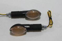 For Sale Cheap Stalk Turn Signals - Clear Lenses, Black Bases, Amber Bulbs - Universal Motorcycle Lights - Honda CBR 600rr 1000rr, Suzuki GSXR 600 750 1000, Yamaha YZF R1 R6, Kawasaki Ninja ZX6r ZX9r ZX10r ZX12r ZX14 Order