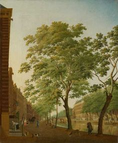 Original Painting by Hendrik Keun: 'Keizersgracht at Molenpad' (1773)  Part of the Collection of the Amsterdam Museum www.eaudamsterdam.com