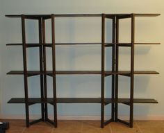 How to make collapsible shelves: Blue Starr Gallery: You Can Build It Too !