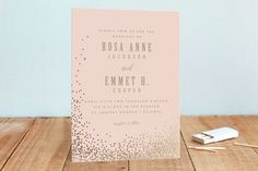 Bubbly Foil-Pressed Wedding Invitations by Lori Wemple at minted.com