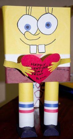 Spongebob Square Pants Valentine's day Box