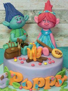 Trolls ,Poppy,Branch,Handmade,Personalised,Birthday,Age,Name,Cake topper