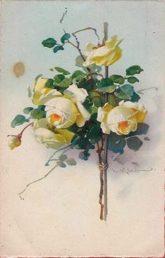 Retro card with roses for decoupage. Discussion on LiveInternet - Russian Service Online Diaries Catherine Klein, Love Flowers, Vintage Flowers, Shabby Chic Painting, Rose Pictures, Watercolor Cards, Science And Nature, Botanical Prints, Diy Art