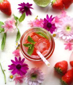 Rhubarb, strawberry