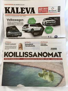 Newspaper, kaleva Oulu,  Koillissanomat Kuusamo 🇫🇮🇫🇮