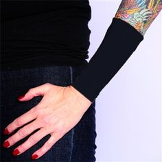 Cover Up Tattoos | Tattoo Cover Up | Ink Armor Black Forearm 6 Sleeve | Tat2X.  These tattoo cover ups feature a tagless design, non-chaffing inseam and will wick away moisture. Check out our new quantity discounts! ~ The more you buy, the MORE you SAVE ~ Up to 20% Off!   #tattoosleeves #tattoos #tattoocovers #nochaffing #tagless #tat2x #inkarmor #madeintheusa http://www.tat2x.com/cover-tattoo-s/1821.htm