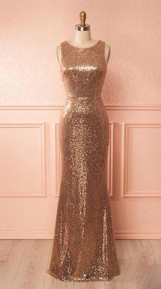 Gold sequin bridesmaid dresses, Mermaid bridesmaid dresses, long #Bridesmaid #Bridesmaiddres s#dress #fashion #love #shopping #art #dress #women #mermaid #SEXY #SexyGirl #BridesmaidDresses