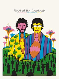 Spike Press' poster for Flight Of The Conchords at Manchester Apollo on 12th May 2010