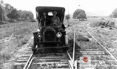 Corvallis and Alsea Railroad track car circa 1910, Benton County, Oregon