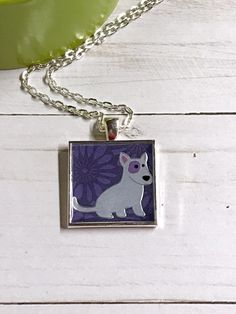 Bull terrier pendant dog necklace by GracieLouDesignsCo on Etsy