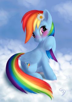 Just blushing Rainbow Dash. Thanks for faves ________ Art by me. Rainbow Dash - My Little Pony: Friendship is Magic © Lauren Faust/Hasbro