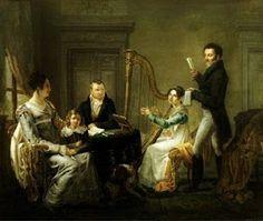 The Harp lesson by Joseph Geimaert, 1820