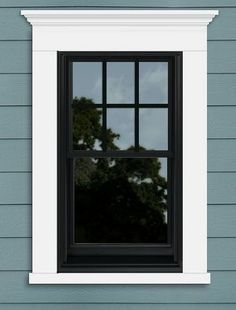 41 Ideas Exterior Window Trim Black Home For 2019 Farmhouse Windows, Window Shutters Exterior, Windows Exterior, House Exterior, Exterior Design, Window Design, Window Trim Exterior, Exterior Trim, Exterior Wood