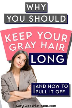 Why do some silver sisters prefer to keep their hair long while they transition to gray, how do they rock their gray grow-out, and what does it look like during the long transition period?  Read on to find out everything you want to know about going gray with long hair.  #goinggray #longhair #longgreyhair Beauty Skin, Hair Beauty, Gray Hair Growing Out, Transition To Gray Hair, Long Gray Hair, Going Gray, Grow Out, Dream Hair, Crazy Hair