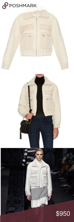 💠Diane Von Furstenburg Plush Bomber Jacket💠 DVF New with tags Diane Von Furstenburg Plush Bomber Jacket. Crafted from soft wool and alpaca-blend detailed with rabbit fur trim.  Purchased from department store. Perfect condition. White heavyweight wool blend with white rabbit fur collar, cuffs,back yoke & pocket trim. Size women's 2. Fits true to size. Ask questions if needed Diane von Furstenberg Jackets & Coats Blazers