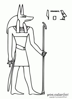 egypt stencils | Egyptian god: Anubis | Print. Color. Fun! Free printables, coloring ...