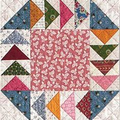 FREE Gosling-Go-Round flying geese quilt block pattern from McCall's Quilting. Be sure to watch the FREE no-waste flying geese how-to video: http://www.mccallsquilting.com/mccallsquilting/articles/Block_Builders_Workshop_FREE_Quilting_Video_Lesson_No_Waste_Flying_Geese