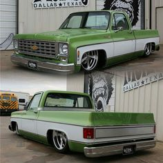 '76 Chevy C10 by @gasmonkeygarage #Chevy #C10 #Truck #Bagged #ClassicCarsWorld by classiccarsworld