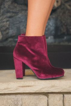 These beautiful velvet booties are a stunning way to rock one of this season's hottest trends!