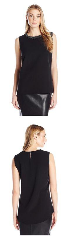 Calvin Klein Women s Shell with Beading Atneck 43e9bdfae