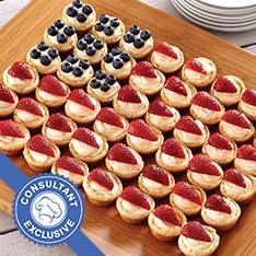 Perfect for Memorial Day, July 4th and Veterans Day. Looks beautiful served on the Pampered Chef large bamboo platter