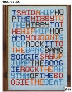This is tempting me to take up cross stitch...