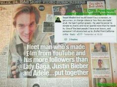 Felix I am so proud of you *brofist* love you your so funny and you make my smile thank you