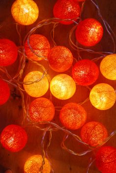 Orange tones ambient ball fairy lights