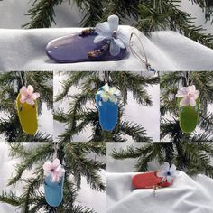 Custom Ceramic Ornament  Flip Flop Design by GrapeVineCeramicsGft, $8.00