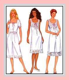 EDWARDIAN UNDERGARMENTS COLLECTION-Historical Sewing Pattern-Slip-Tap Pants-Chemise-Teddy-Lace & Ribbon Trim-Uncut-Size 12-16-Rare by FarfallaDesignStudio on Etsy