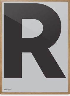 Grey Poster — R | Playtype Concept Store