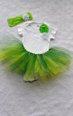 St Patricks Day Baby Tutu