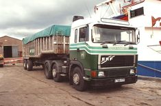 Preston Farmers/AF Feeds ERF and 2 axle bulk tipper at Glasson Dock on Old Lorries, Commercial Vehicle, Classic Trucks, Old Trucks, Preston, Farmers, Vehicles, Britain, Cars