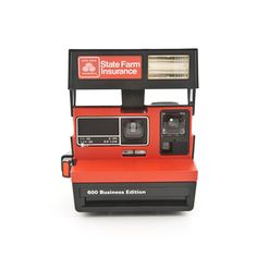 Polaroid State Farm Insurance Business Edition with original box - Polaroid 600 type camera - Instant Camera Tested - Working by ShutterLightOC on Etsy https://www.etsy.com/listing/124830847/polaroid-state-farm-insurance-business