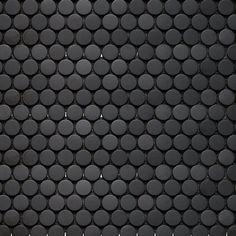 Inox Mosaics Penny Round Black
